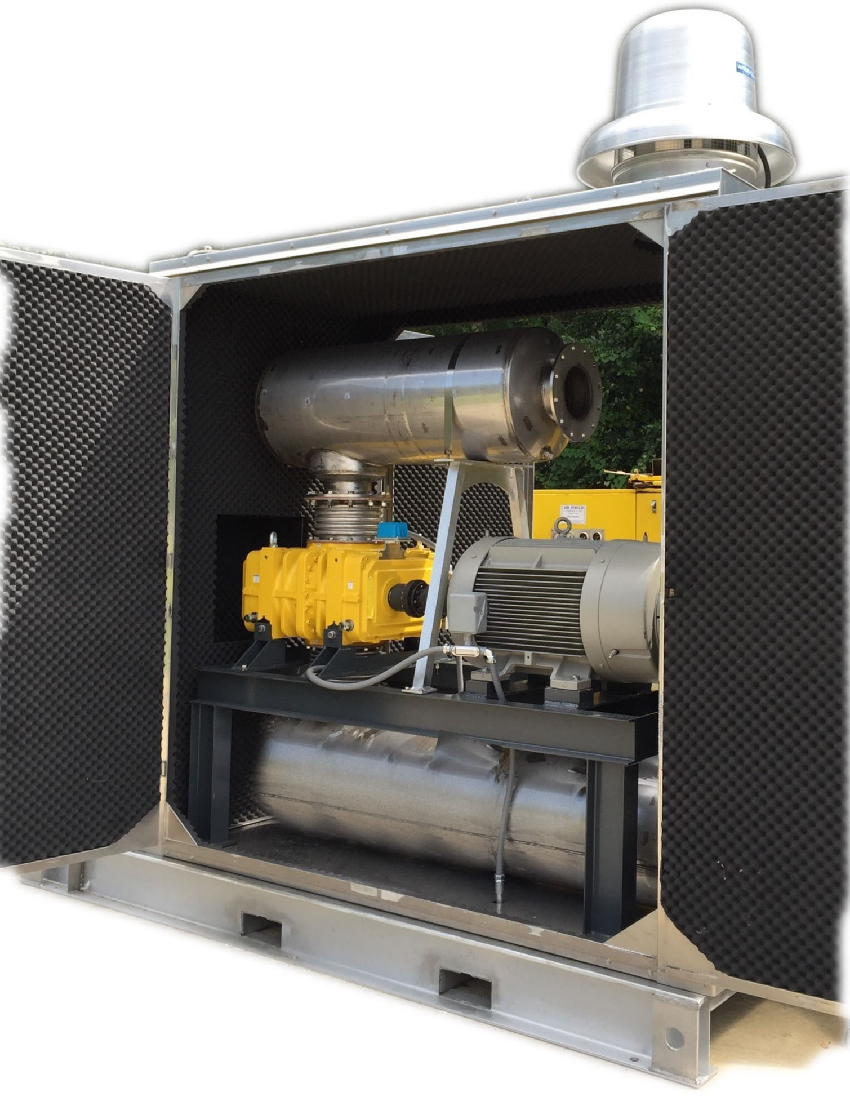 Kaeser H2S/CH4 Gas Blower Package built by Air Power Services, Inc Pensacola, FL