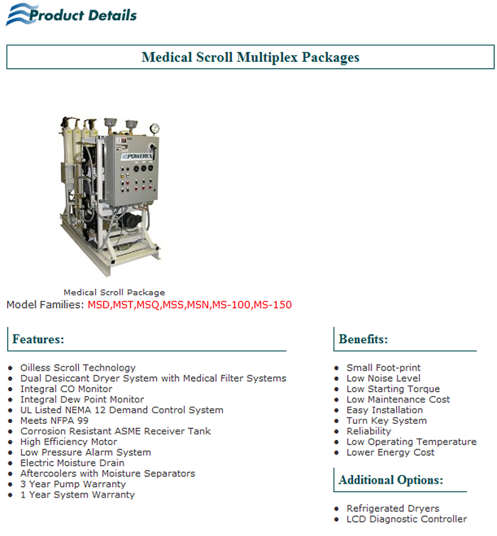 Medical Scroll Multiplex Packages