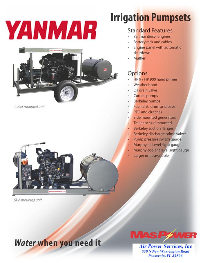 Yanmar irrigation pumpsets air power services inc yanmar irrigation pumpsets ccuart Gallery
